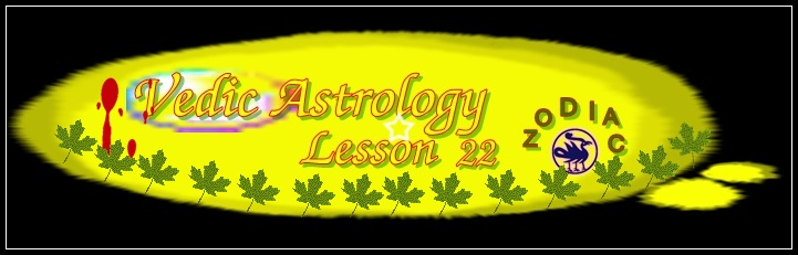 Vedic Astrology Lesson 22